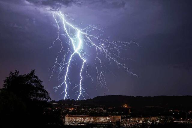 Blitz über Lörrach
