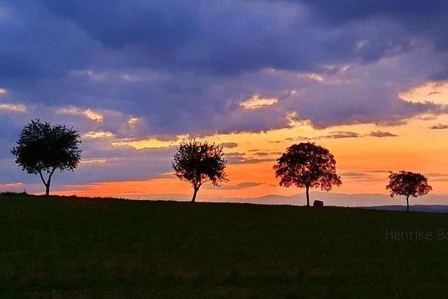 Sonnenuntergang zwischen Lucke und Ötlingen
