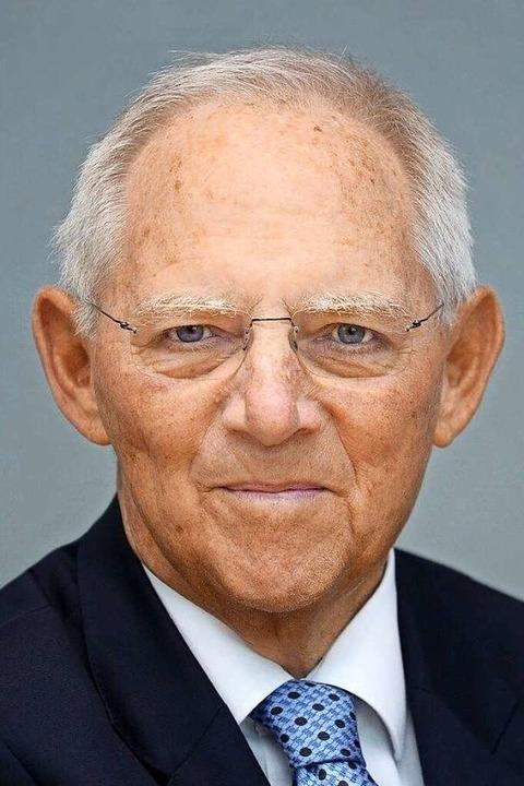 Wolfgang Schäuble, CDU    Foto: Deutscher Bundestag/Achim Melde