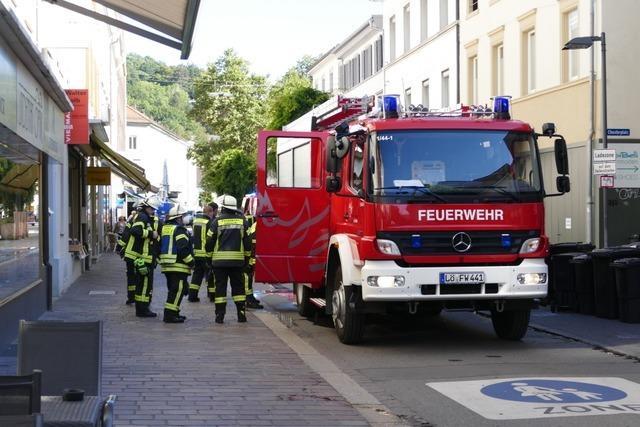 Feuerwehreinsatz in der Lörracher Innenstadt aufgrund eines Gaslecks