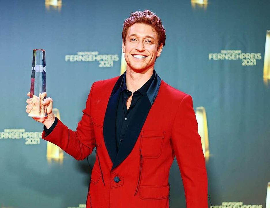 Daniel Donskoy bei der Verleihung des Deutschen Fernsehpreises    Foto: Marcel Kusch (dpa)