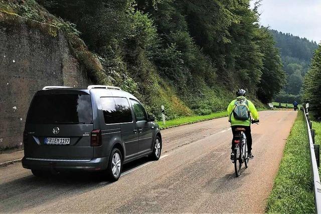 Einer Verlängerung eines Radwegs bei Buchenbach steht nicht nur ein Fels im Weg