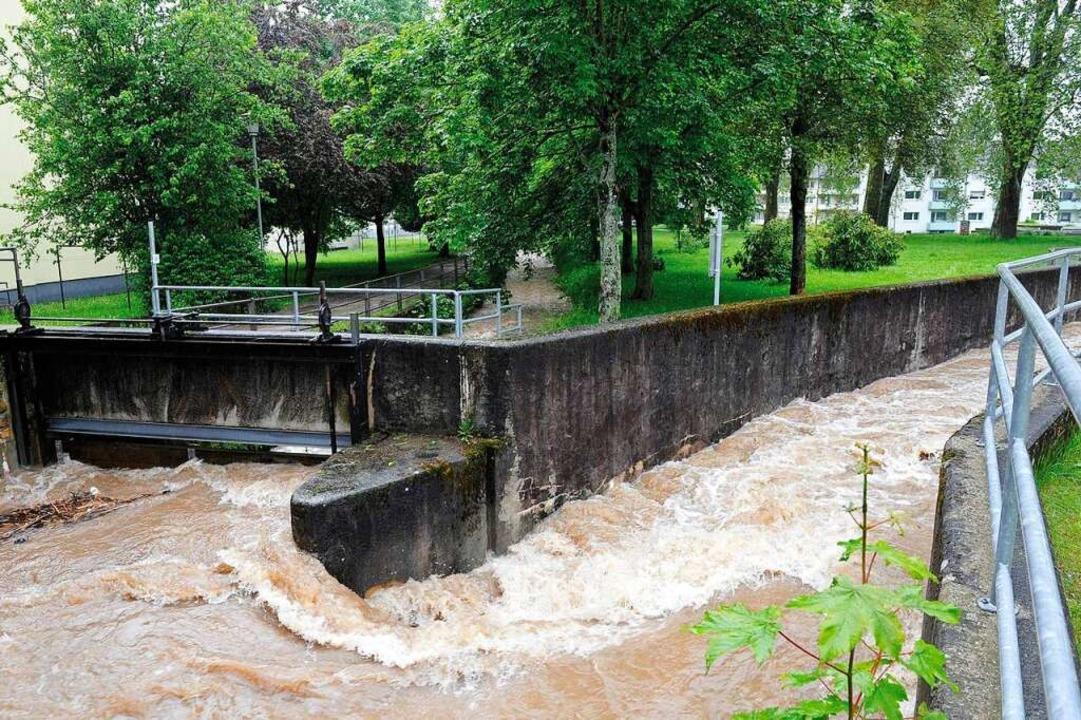 Der sogenannte Teilstock in der Müllhe...iges Element für den Hochwasserschutz.  | Foto: Volker Münch
