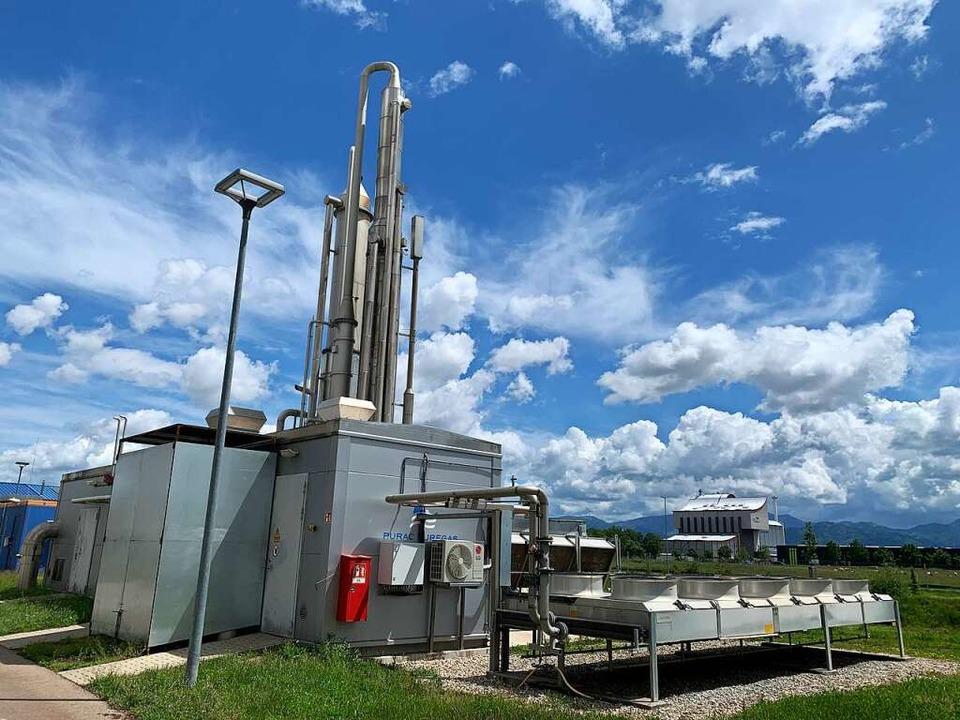 Die Biogasanlage der Badenova-Tochter ... größte Anlage dieser Art in Südbaden.  | Foto: Simone Höhl