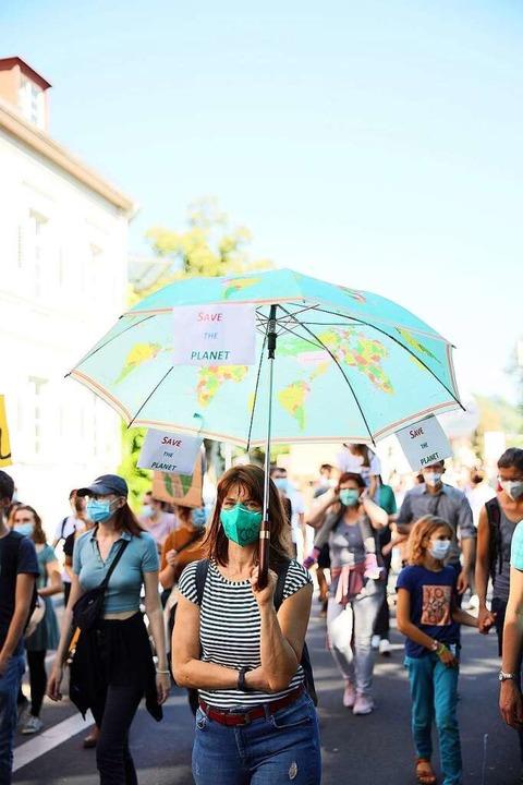 Zehntausende kamen zum Klimastreik in Freiburg    Foto: Janos Ruf