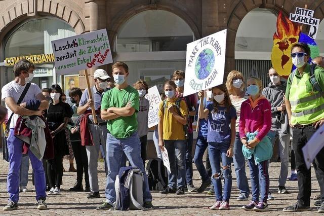 Einsatz in Bad Säckingen für das Weltklima
