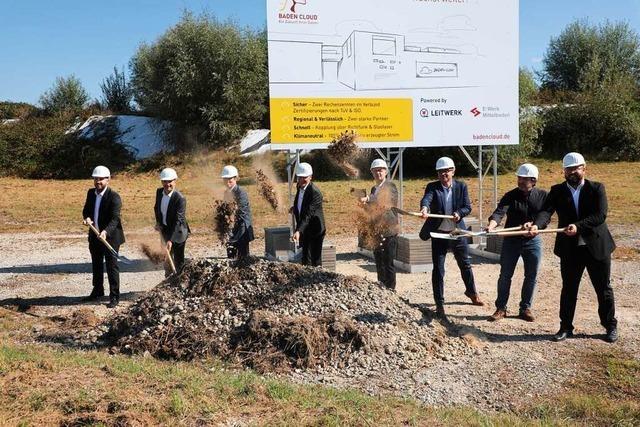 Der Bau des Rechenzentrums auf dem Flugplatzareal in Lahr hat begonnen