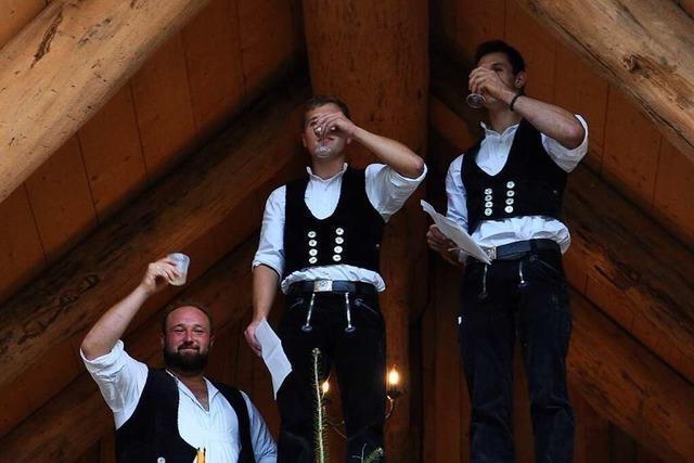 Für das neue Blockhaus in Sulz konnte endlich das Richtfest gefeiert werden