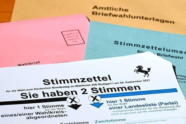Ergebnis der Bundestagswahl 2021 im Wahlkreis 284 Offenburg