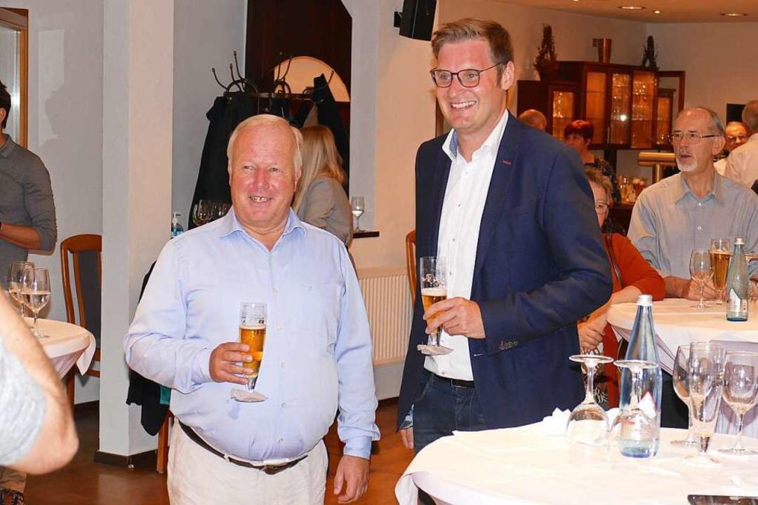 Yannick Bury (rechts) mit Vorgänger Peter Weiß  | Foto: Micahel Sträter