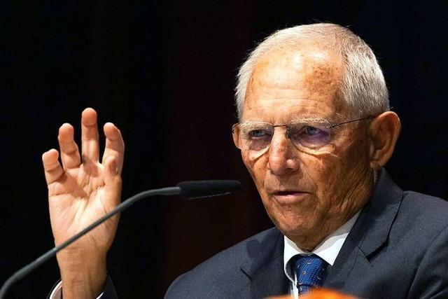 Schäuble ist im Wahlkreis Offenburg nicht zu schlagen