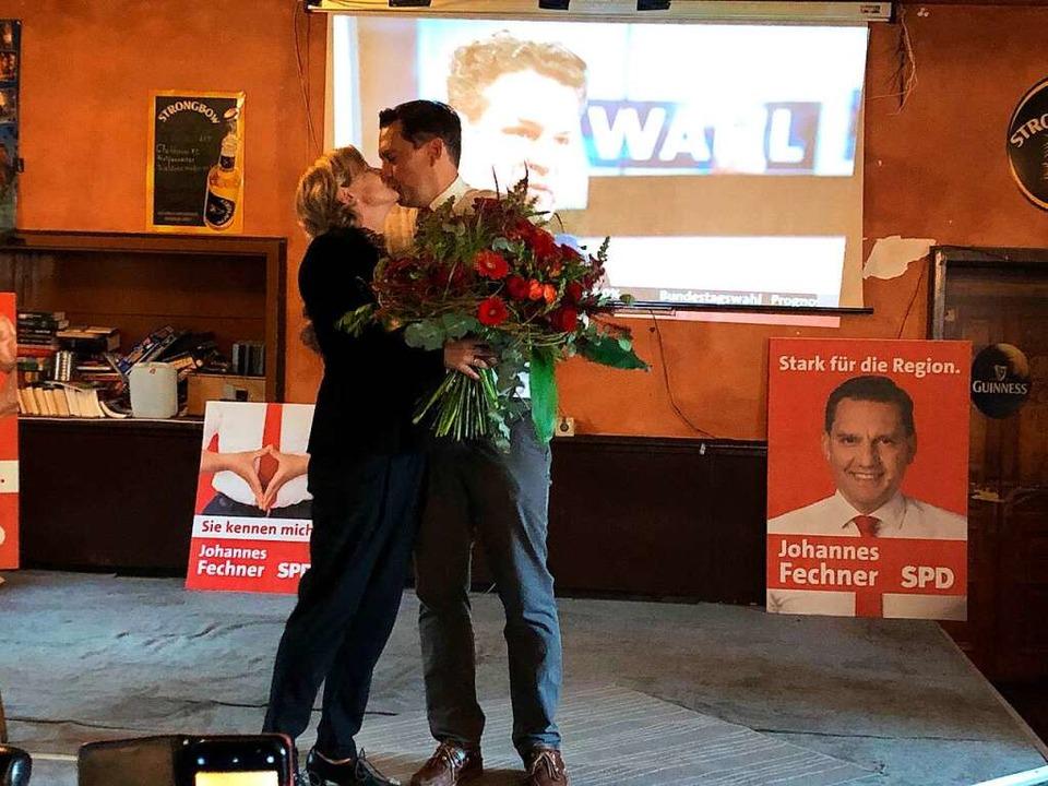 Kuss für Johannes Fechner  | Foto: Felix Lieschke