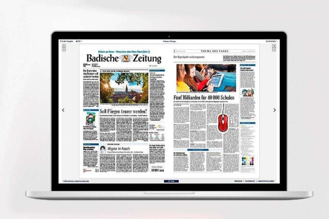 In der digitalen BZ können Sie Zeitung und Beilagen jetzt mit einem Klick laden