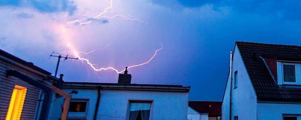 Blitz schlägt in Haus in Eimeldingen ein