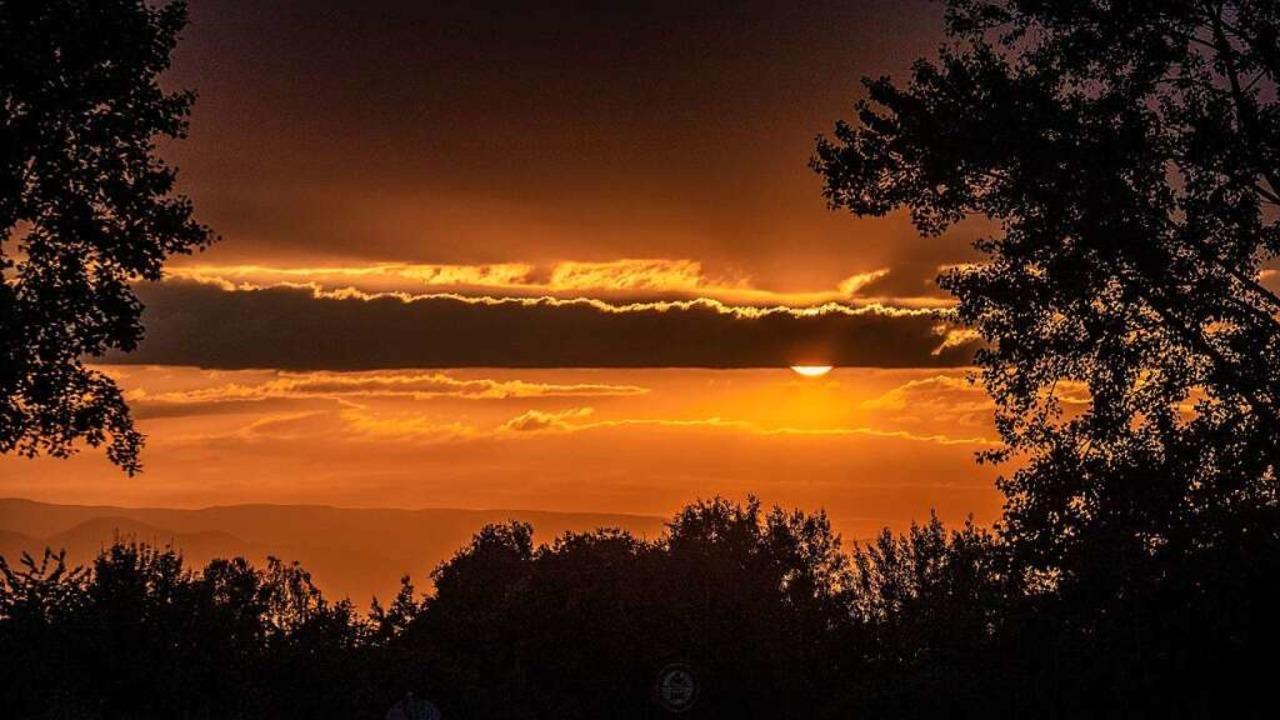 Sonnenuntergang bei Grunern Ausgang Münstertal    Foto: Peter Stahl