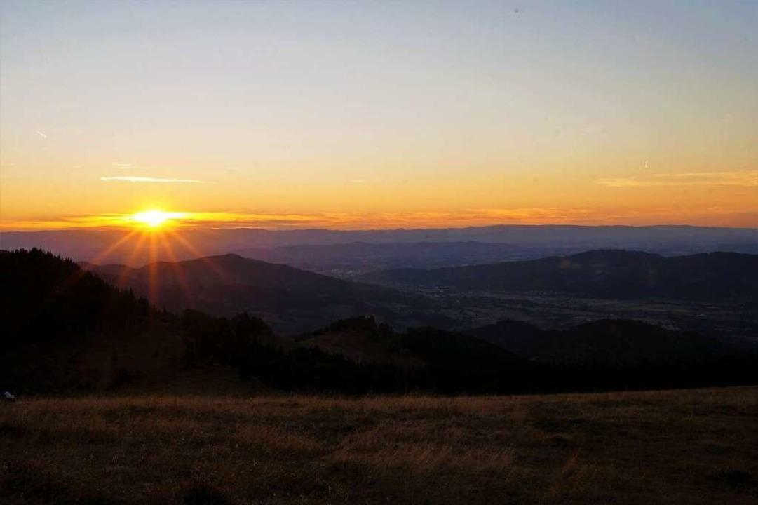 Sonnenuntergang,  vom Hinterwaldkopf aus fotografiert    Foto: Thomas Eckerle