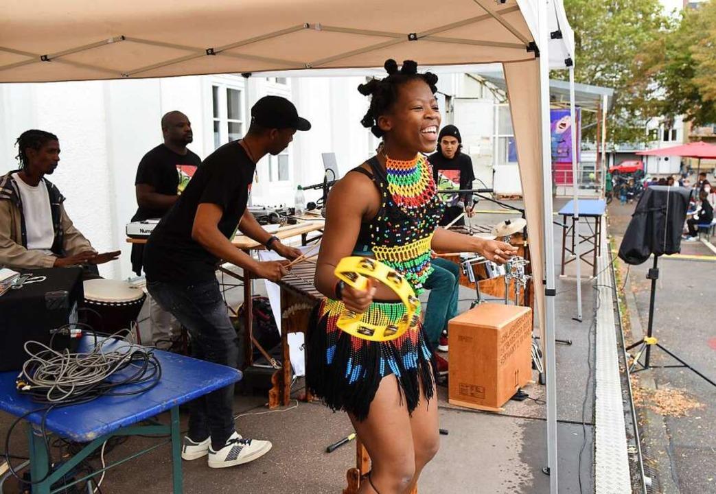 Die Marimba Group beim Africa Day beim E-Werk  | Foto: Rita Eggstein