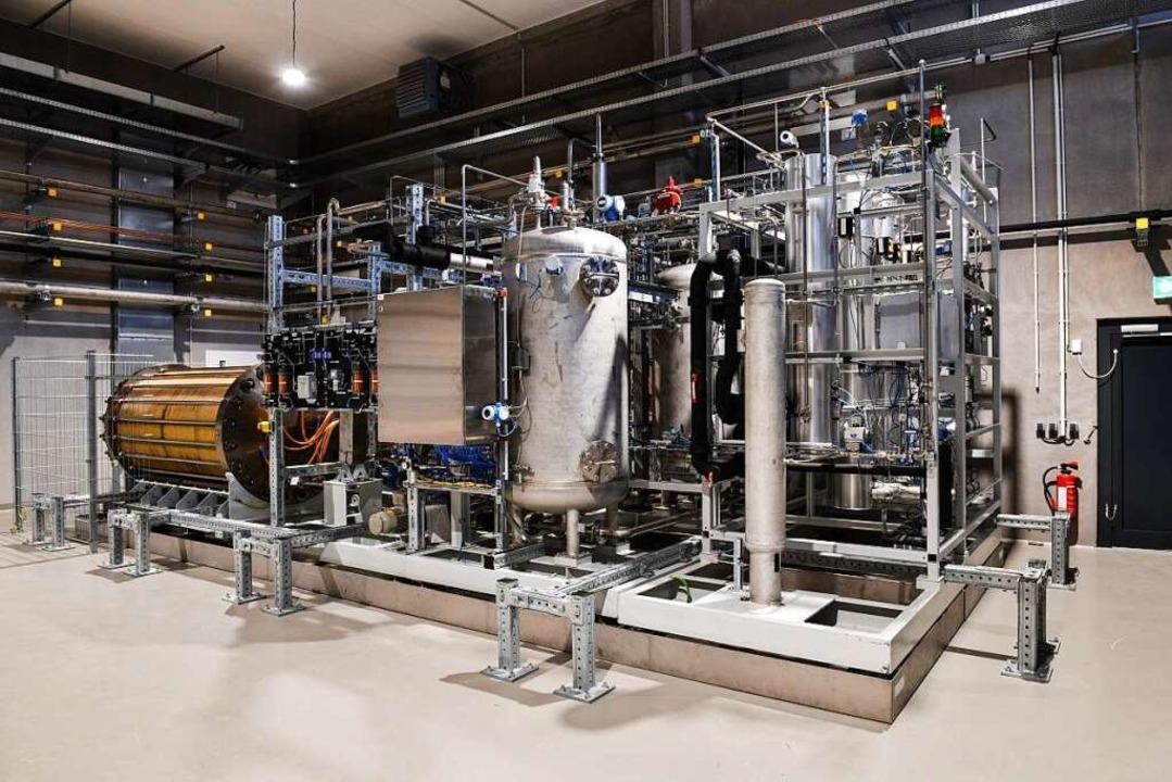 Der Elektrolyseur ist das Herzstück de...rden im Juni beschädigt und ausgebaut.    Foto: Energiedienst
