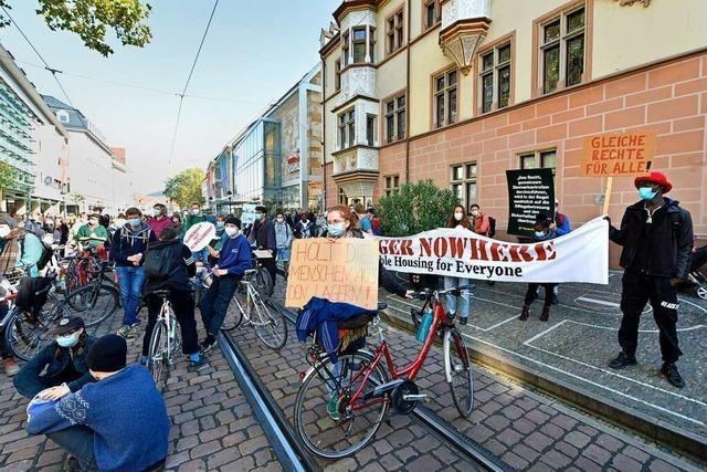 Proteste gegen die Bedingungen in der LEA
