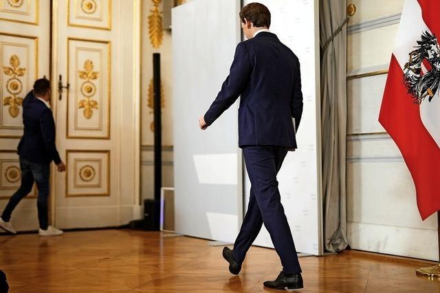 Kurz tritt ab, Koalition in Wien macht weiter