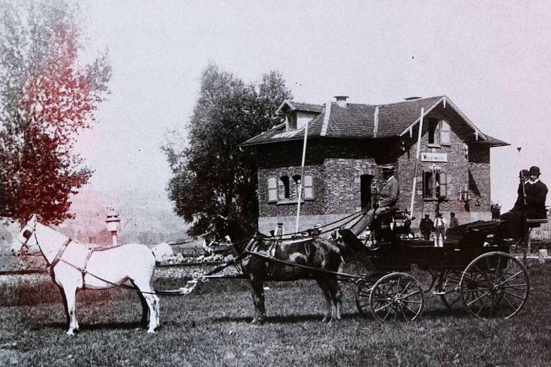 Der Bahnhof Wasenweiler im Jahre 1907  | Foto: Sammlung Walter Meier