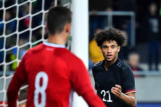 Kevin Schade vom SC Freiburg trifft zwei Mal gegen Ungarn