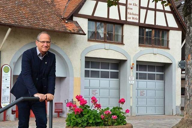 Michael Baumann hat große Pläne für die Rheingemeinde