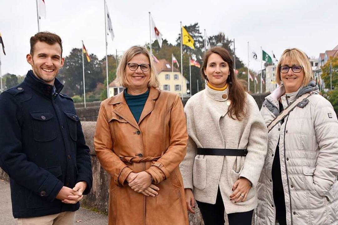 Haben sich ausgetauscht (von links): S...z) und Elisabeth Vogt (Bad Säckingen).  | Foto: Horatio Gollin