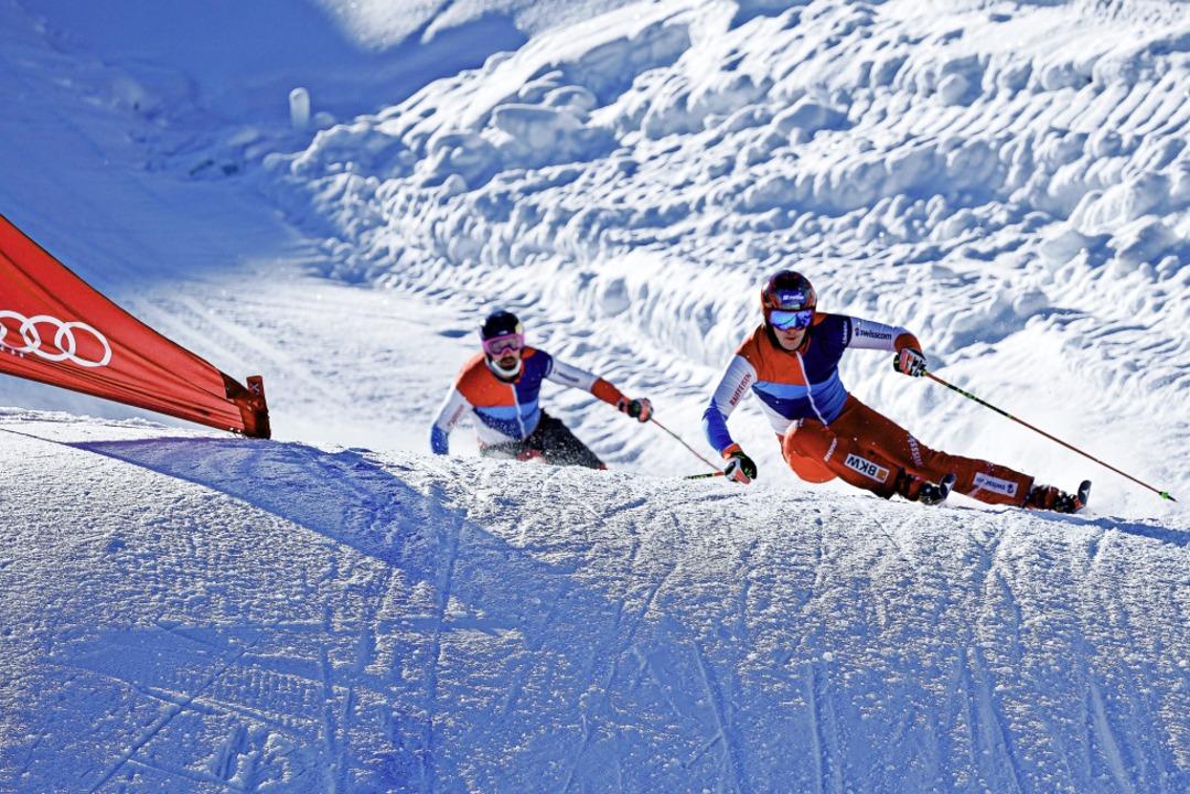 Kurvenkratzer: Skicrosser Tobias Baur ...didat für die Winterspiele in Peking.   | Foto: Katrin Ofner
