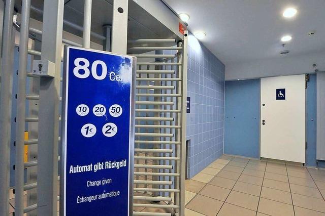 Illegale Einlasskontrolle auf der Toilette in Freiburger Hauptbahnhof