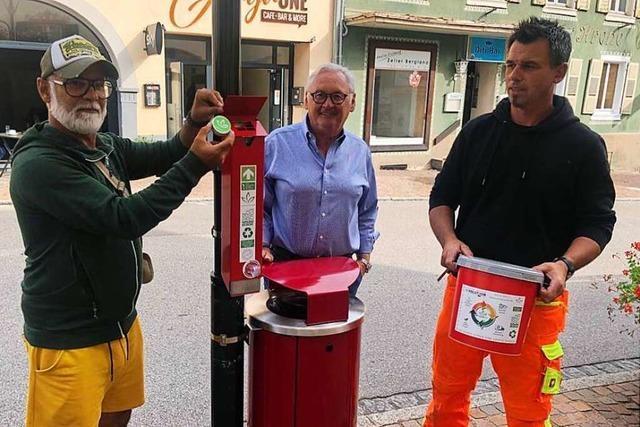 Die Stadt Zell sammelt Zigarettenkippen, um sie zu recyceln