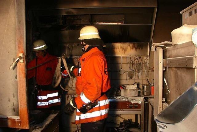 In der Holzfällerstube in Oberried fing überhitztes Fritteusen-Fett Feuer