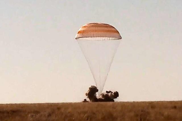 Russisches Filmteam landet nach dem Dreh auf der ISS auf der Erde