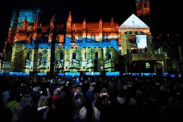 Das Münster-Mapping ist ein spektakulärer Parforceritt durch Freiburgs Geschichte