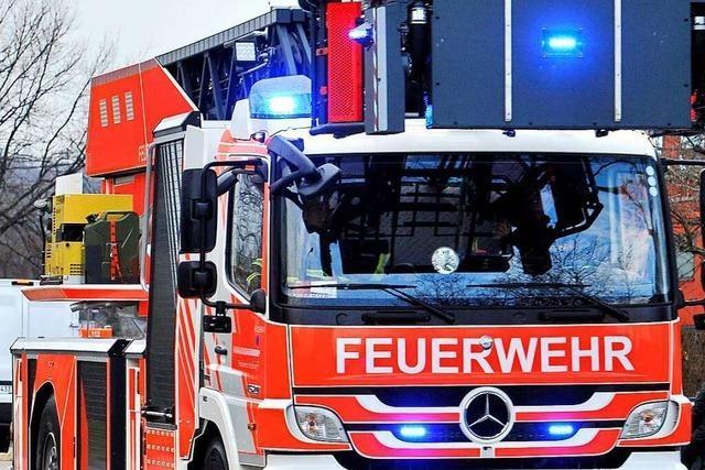 Brand in einem Gebäudekomplex in Freiburg-Haid