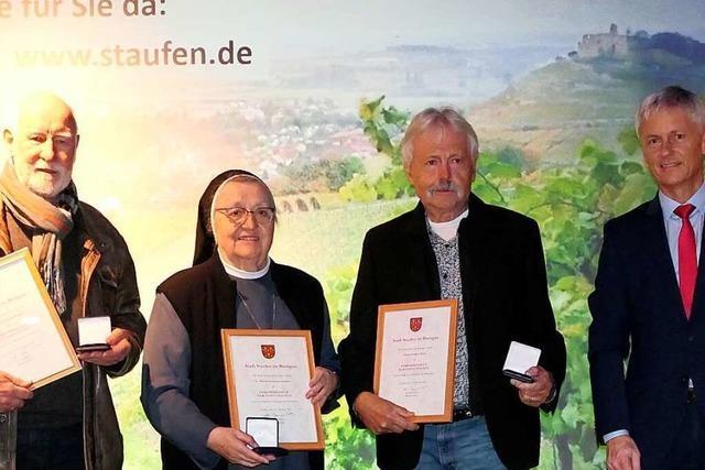 Staufen vergibt drei Ehrenmedaillen