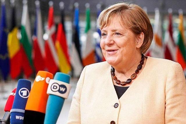 So lief der wohl letzte Auftritt von Angela Merkel in Brüssel