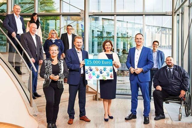Endress + Hauser spendet 25.000 Euro an den Verein Chinderlache Lörrach
