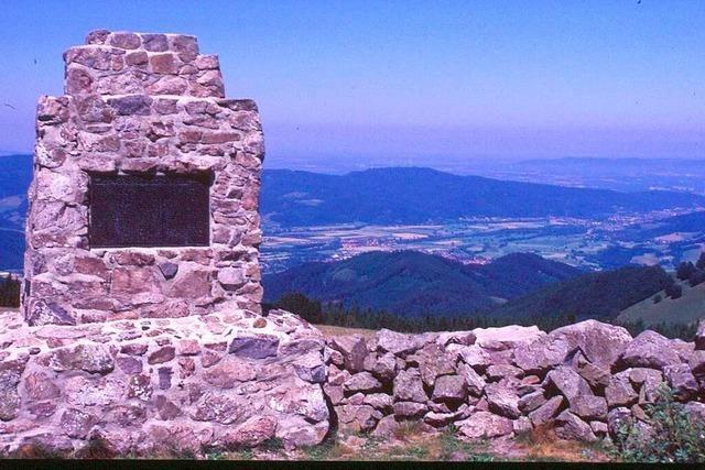 Der Hinterwaldkopf ist ein super Aussichtspunkt hoch über dem Dreisamtal