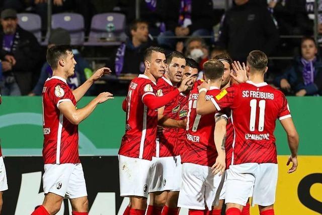Der SC Freiburg steht nach Elfmeter-Krimi im Pokal-Achtelfinale