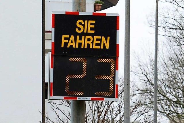In Freiburg-Lehen fahren nur wenige Autofahrer zu schnell