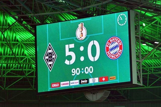Historische Pokal-Pleite für den FC Bayern – 0:5 in Gladbach