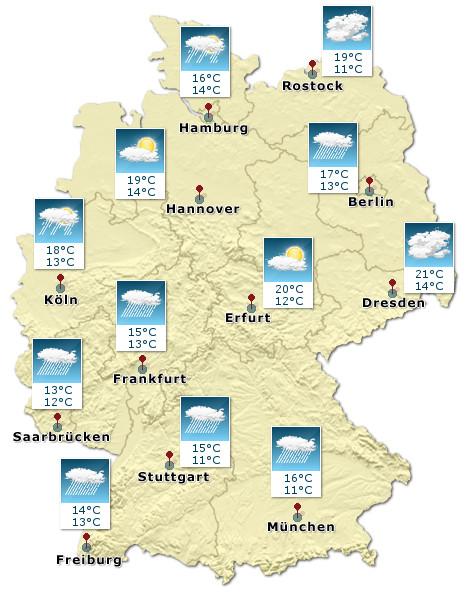 Deutschland - Wetterkarte - Heute