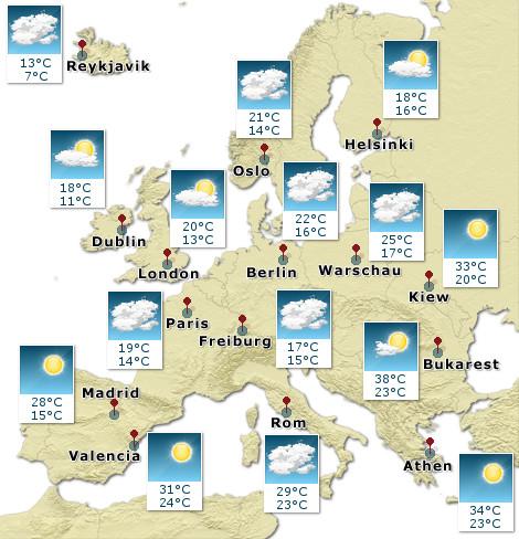 Europa - Wetterkarte - Übermorgen